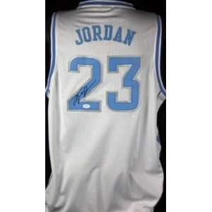 Michael Jordan Auth Signed North Carolina Jersey Jsa