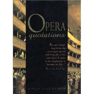 Opera Quotations (Mini Books) (9781861870346) Helen Exley