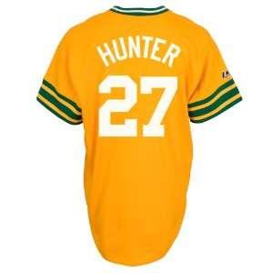 MLB Catfish Hunter Oakland Athletics Cooperstown Replica Jersey