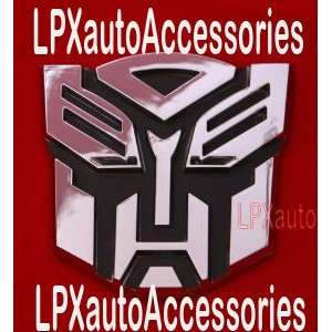 Transformers Autobot Car Chrome Badge Emblem 3D Logo: Automotive