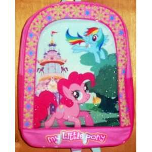 My Little Pony Backpack   Rainbow Dash & Pinkie Pie: Toys & Games