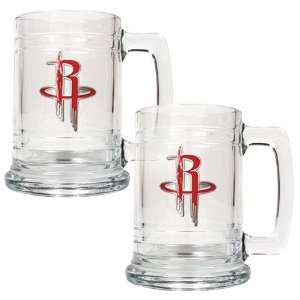 Houston Rockets NBA 2pc 15oz Glass Tankard Set   Primary