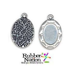 Photo Jewelry Charms Pendants SILVER OVALS 24mm Altered