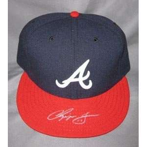 Chipper Jones Signed Atlanta Braves New Era Hat Sports Collectibles
