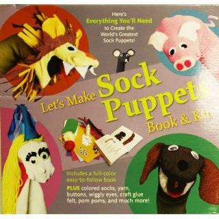 Lets Make Easy Sock Puppets Book & Kit Set Arts, Crafts