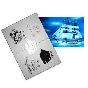 Step by Step Airbrush Stencil Template AS 043 L ca. 9,05
