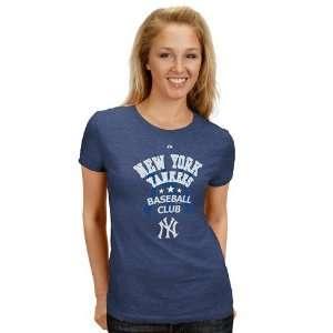 Ladies Navy Blue Baseball Club T shirt (Small)