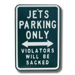 New York Jets Green Parking Sign