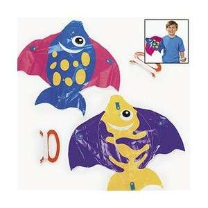 PLASTIC TROPICAL FISH KITES (1 DOZEN)   BULK  Toys & Games