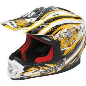 /Off Road/Dirt Bike Motorcycle Helmet   Yellow / 2X Large Automotive