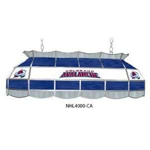 Colorado Avalanche NHL 40 Stained Glass Pool Table Light