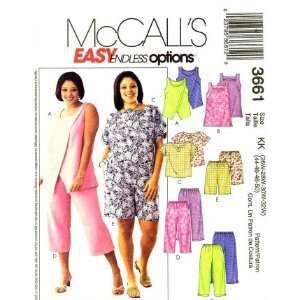 Tops Tunic Capri Pants Shorts Plus Size 26   32 Arts, Crafts & Sewing