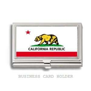 California State Flag Business Card Holder Case