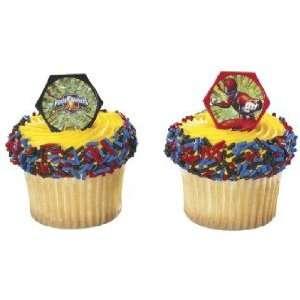 Power Ranger Red Ranger Cupcake Rings 8 Assorted Rings