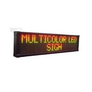 Led Sign 26x6 Programmable Multi Color Display Office