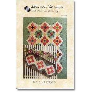 Radish Roses Quilt and Table Runner Patterns