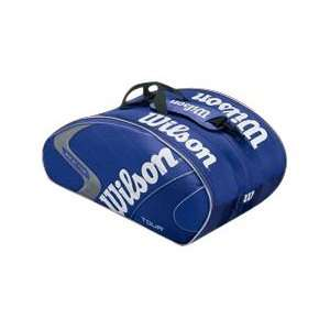 Wilson (K)Tour Super Six Racquet Bag (Blue)  Sports