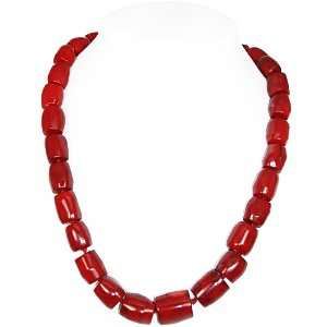 Red Genuine Bamboo Coral Necklace(Medium size Beads) Jewelry
