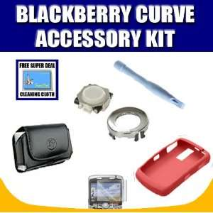 Blackberry OEM Red Skin + Curve Leather Horizontal Pouch