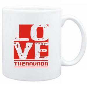 Mug White  LOVE Theravada  Religions