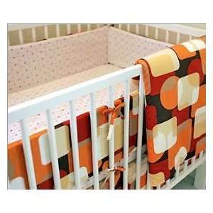 Gus & Max Orange Mod Square Crib to Toddler Bedding Set
