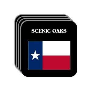 US State Flag   SCENIC OAKS, Texas (TX) Set of 4 Mini Mousepad