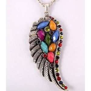 Fashion Jewelry Desinger Inspired Feather, Acrylic, Rhinestone