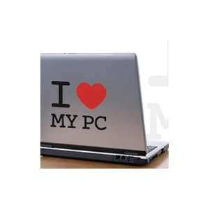 I Love My PC  laptop skin decals (black & red color