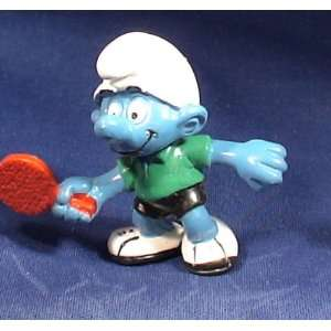 The Smurfs Ping Pong Player Smurf Pvc Figure Toys & Games