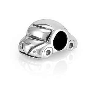 Sterling Silver Cute Car Bead Charm Fits Pandora Bracelet Jewelry