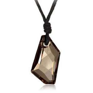 Champagne Gold Crystal Chain Pendant Necklace Used Swarovski