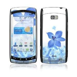 LG Ally VS740 Skin Decal Sticker   Blue Neon Flower