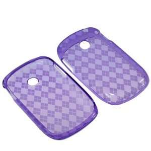 Case for Tracfone LG 800G  Purple Checker: Cell Phones & Accessories