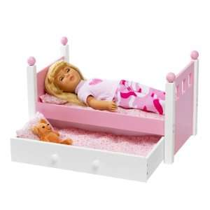 For American Girl Doll Single Bed & Trundle   Fits 18 Inch Dolls