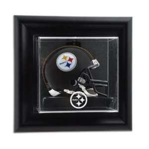 Pittsburgh Steelers Framed Wall Mounted Logo Mini Helmet