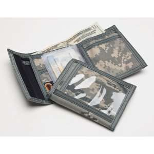 Original Bifold Velcro Wallet with ID Windows in US Army ACU Digital