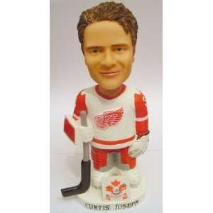 Painted Bobble Head Doll Hockey Red Wings Curtis Figurine