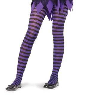 Girls Black & Orange Knee High Striped Socks Clothing