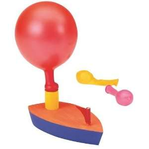 Wooden Balloon Powered Boat Craft Kit (Makes 12): Toys