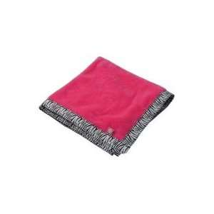 Hot Pink Zebra Baby Blanket Personalized Baby