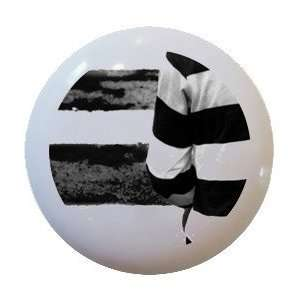Black White Zebra Crossing Road Ceramic Knobs Kitchen