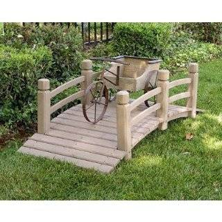 Finish Wooden Bridge Garden Pond Outdoor Decor Patio, Lawn & Garden