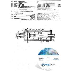 CD for FAST OPENING PLATE VALVE SHOCK TUBE SYSTEM