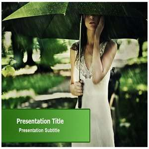 Summer Rain PowerPoint Template   Summer Rain PowerPoint