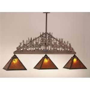 Meyda Tiffany 51347 Antique Copper / Amber Mica Pine Lake