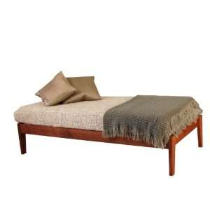 Queen Size   Solid Wood Platform Bed Frame   Dark Finish
