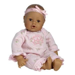 Adora Playtime Baby Doll 13 Medium Brown Eyes Pink Romper