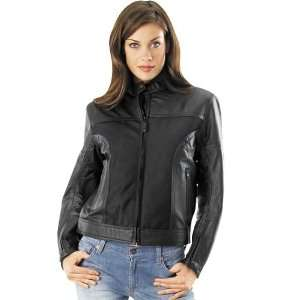 RIVER ROAD WOMENS PECOS LEATHER AND MESH JACKET (LARGE