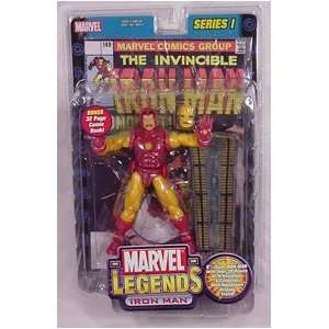 Marvel Legends 6 Inch Series 1 Action Figures   IRON MAN with Bonus of