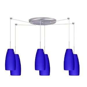 Besa Lighting 6JC 1512CM W6 SN Cobalt Blue Matte Tao 10